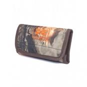 Art. nº 111 - Canana de cinturón para balas con cierre magnético en camu marrón