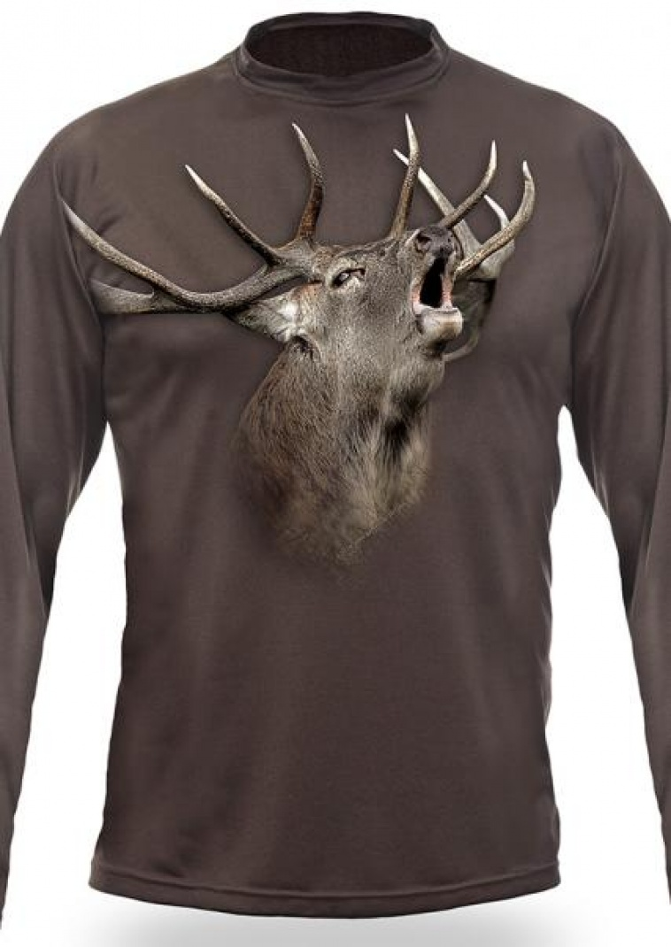 Art. nº 183 - ref. 122503 Camiseta marrón Venado 3D M/Larga