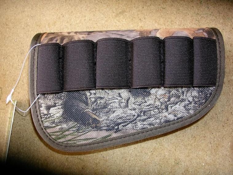 Art. nº 114 Carrillera canana de culata para cartuchos en color camu