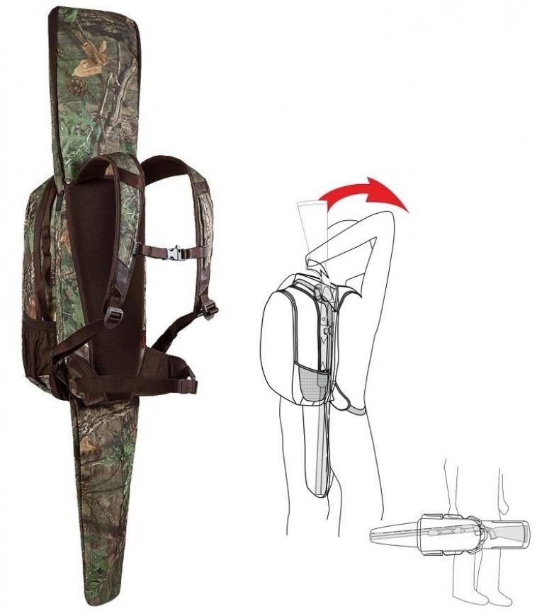 Art. nº 66 (2) ref.145502- Pack de mochila y funda de arma, todo en uno. Ideal para monterías, rececho y todo tipo de caza.