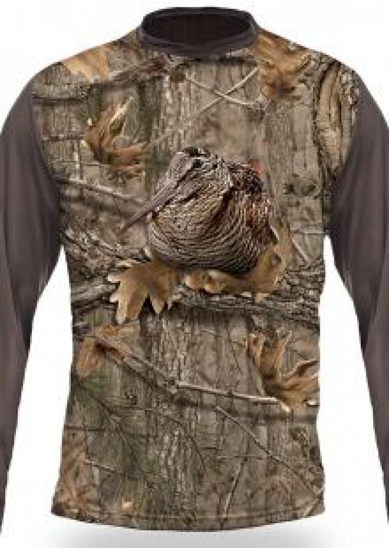 Art. nº 182 -  ref. 122504 Camiseta camo Becada 3D M/Larga